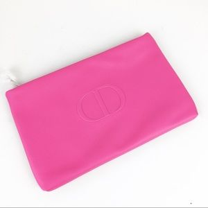 New Christian Dior Pink & Red Make Up Bag